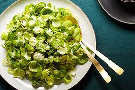 thanksgiving green salad recipes brussels sprouts salad with szechuan peppercorn and celery recipe