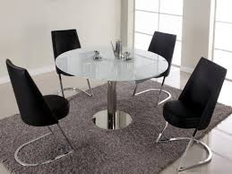 round tempered glass top dining table set for small spaces alfa