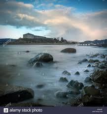 steinvikholmen castle on a small island norway stock photo