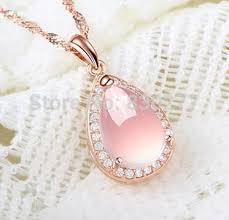 necklace rose quartz images Online shop qing ai female rose gold natural rose quartz pendant jpg