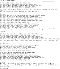 Bad Day Chords Johnny Cash Song Cat U0027s In The Cradle Lyrics And Chords Johnny