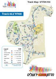 Chicago Marathon Map Jerusalem Marathon Map Map Of Jerusalem Marathon Israel