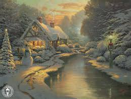 kinkade signed and numbered limited edition print and