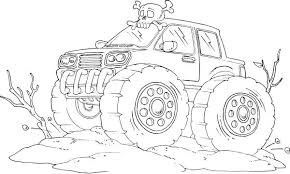 car monster truck off road coloring page off road car car