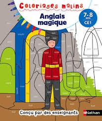 Livre Coloriages magiques  Anglais CE1 78 ans GuilloreChotard S