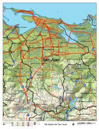 san juan map san juan road map san juan mappery
