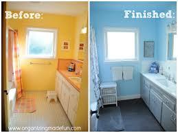 our kids u0027 bathroom makeover reglazing results organizing made