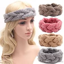 crochet hair band women and kids crochet turban bandanas knit hair band winter