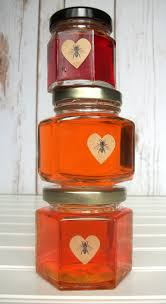 kraft honey bee heart labels bees and canning jar labels