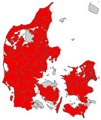 Where I Ve Been Map Here U0027s My Map Of The Municipalities I U0027ve Been To In Denmark Where