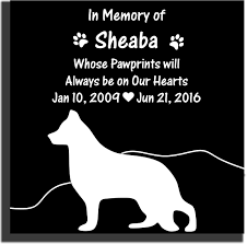 pet memorial stone with silhouette heart