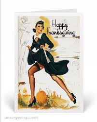 1950s vintage pinup thanksgiving cards tg274 harrison