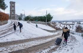 Snow Scotland Polar Blast Hits Scotland As Six Inches Of Snow Covers