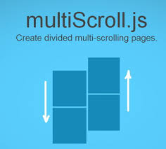 split layout js multiscroll js split multi scrolling pages jquery plugin