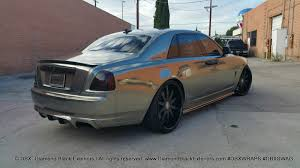 chrysler rolls royce project rolls royce ghost by dbx wrapped in two tone black and