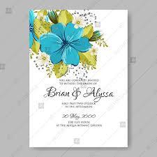 wedding invitation e card turquoise anemone floral wedding invitation vector card template