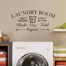 Laundry Room Decor Laundry Room Wall Decal Wash Fold Wall Stickers Laundry Room