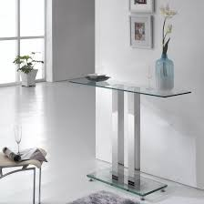 small glass console table console table ice transparent