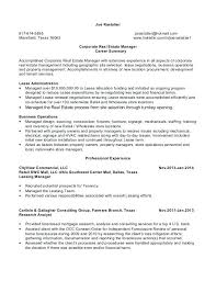 real estate resume templates real estate resume template corporate manager