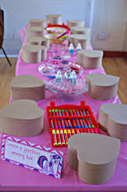 my little pony craft party emily u0027s 6th birthday pinterest