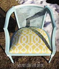 Refinishing Cane Back Chairs My Passion For Decor Turquoise And Yellow Cane Back Chair