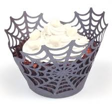 12 halloween spider web cupcake wrappers by paperfiction