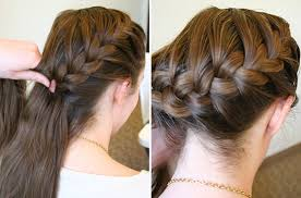 hair braid across back of head how to do a side french braid popsugar beauty