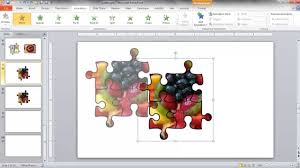 create a jigsaw puzzle image in powerpoint youtube