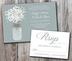 beautiful baby s breath wedding invitation card designs 2015