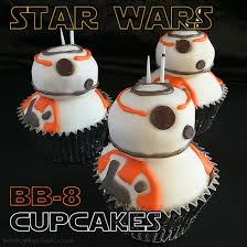 starwars cakes wars bb 8 cupcakes baking mischief