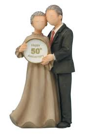 50th wedding anniversary cake topper anniversary cake toppers