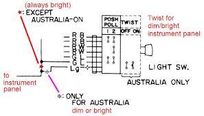 Light Switch Wiring Tech Wiki Headlight Wiring Datsun 1200 Club
