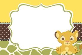 lion king baby shower invitations lion king baby shower invitation templates free marias baby