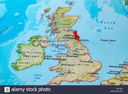 Map Pf Europe by Newcastle U K Pinned On A Map Of Europe Stock Photo Royalty