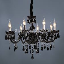 brand new classic black crystal glass chandelier modern fashion