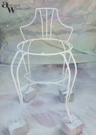 Antique Vanity Chairs Vintage White Vanity Stool Makeover Ambient Wares