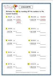 grade 3 maths worksheets subtraction 4 5 estimation of 3 and 4
