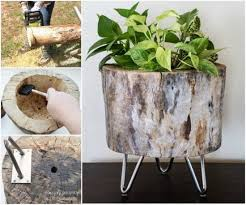 How To Make Planters by How To Make A Planter From A Tree Stump Pictures Photos And