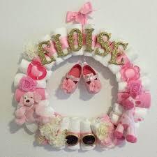 baby diaper wreath baby shower decor custom theme custom