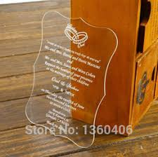 Engraved Wedding Invitations Acrylic Engraved Wedding Invitations Canada Best Selling Acrylic