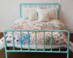 Shabby Chic Metal Bed Frame by Double Bed Shabby Chic Metal Bed For Blythe Or Barbie Doll
