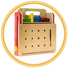 Toy Wooden Tool Bench Amazon Com Toy Workbench And Toddler Tool Set 29 Piece Foldable
