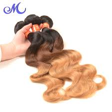 Two Tone Ombre Hair Extensions by Queen Weave Beauty Brazilian Body Wave Two Tone Color 1b 4 27