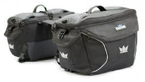 gods triton x2 double side black fabric motorbike saddlebag price
