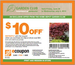 the home depot garden club coupon get 10 canadian freebies