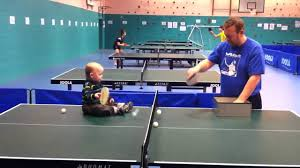 ping pong table playing area jamie playing multiball the original ping pong baby youtube