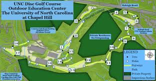 Unc Map Unc Dgc In Chapel Hill Nc Disc Golf Course Review