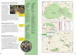Southern Africa Map Wildlife Southern Africa National Parks Reserves