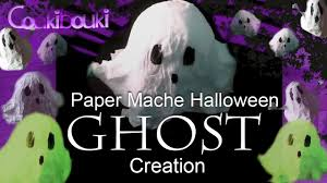 diy halloween decorations paper mache ghost crafts tutorial