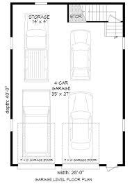 4 car garage size plan 68466vr 4 car tandem garage with man cave above